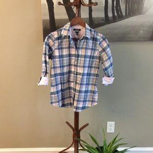 Chaps plaid button down shirt